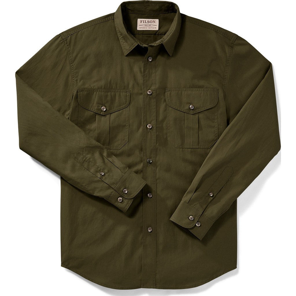 Filson Filson's Feather Cloth Shirt | Marsh Olive M 11010761
