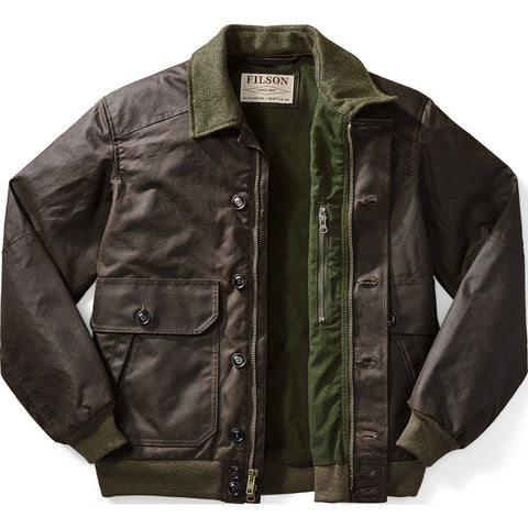 Filson Ranger Oil Cloth Bomber Jacket | Orca Gray XL 11010810