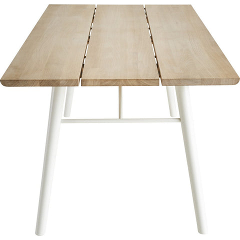 Woud Split Dining Table | Soap Treated Oak/White 110121
