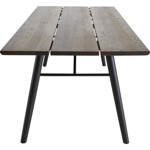 Woud Split Dining Table | Smoked Oak/Black 110123