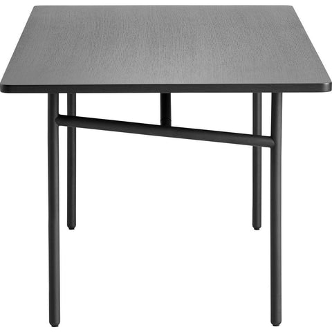 Woud Diagonal Dining Table | Black 110141