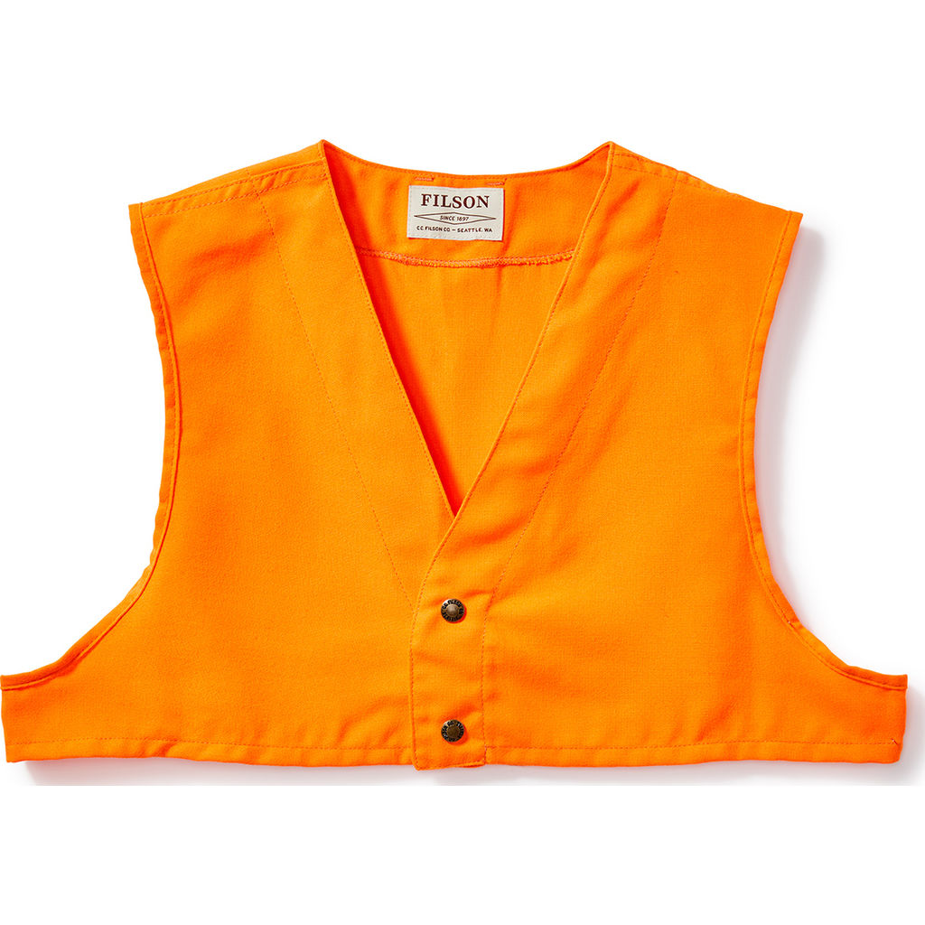 3234b9430bc0e Filson Blaze Orange Safety Vest | Blaze Orange- 11016026--XS ...