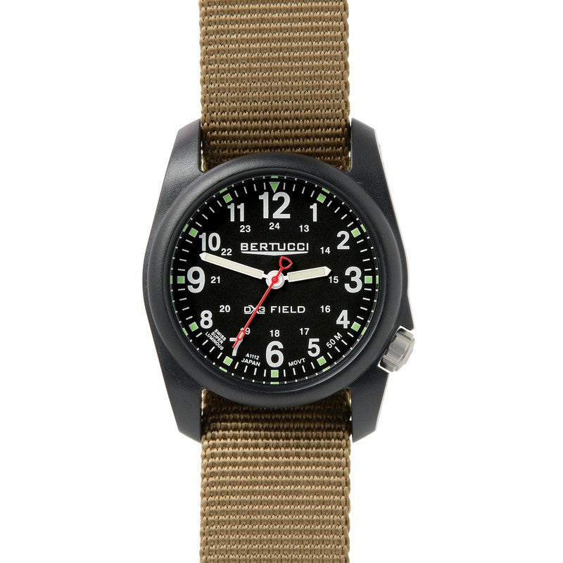 Bertucci DX3 Field Watch | Black/Coyote