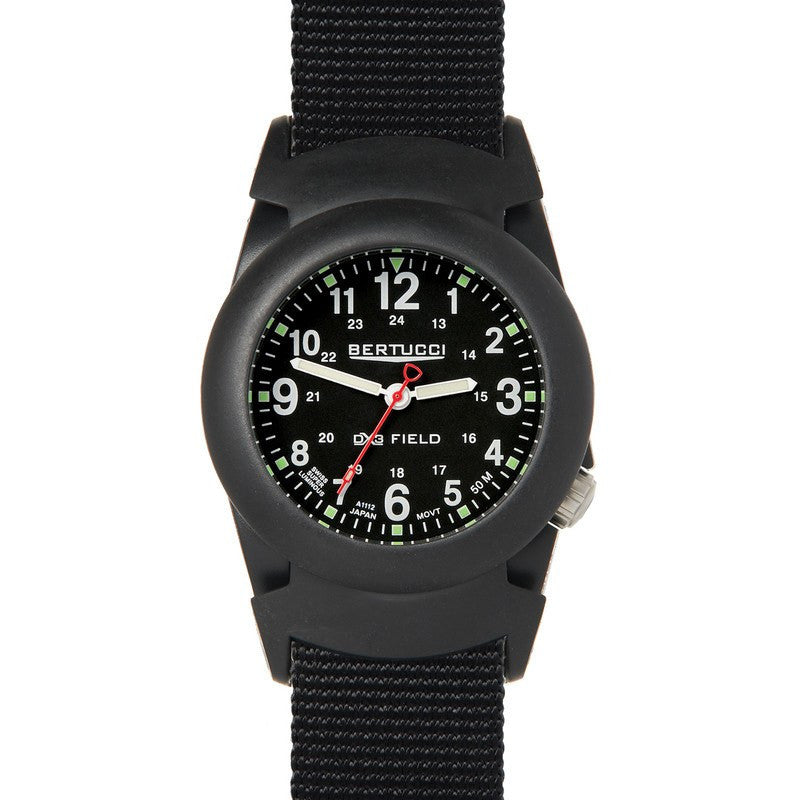 Bertucci DX3 Field Pro-Guard Analog Watch | Black/Black