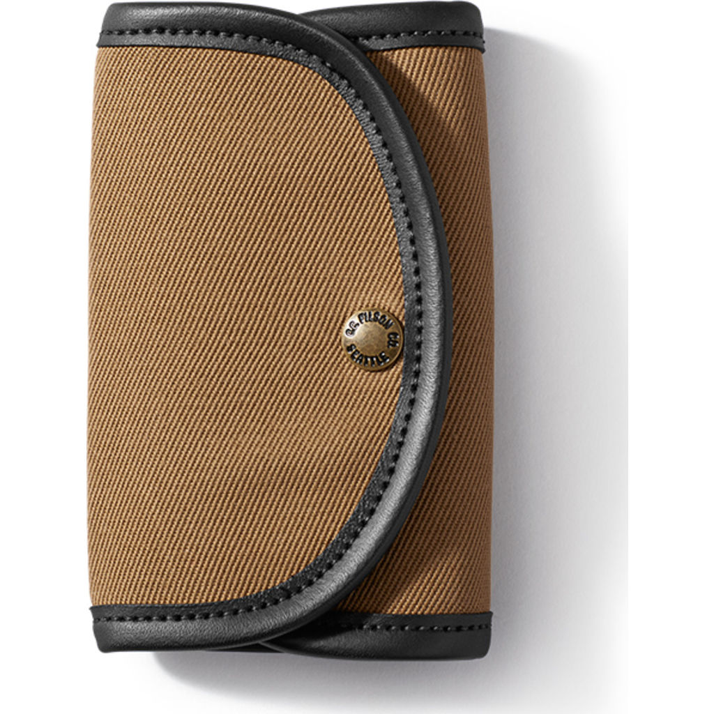 Filson Fly Wallet With Leather Binding - Tan, One Size