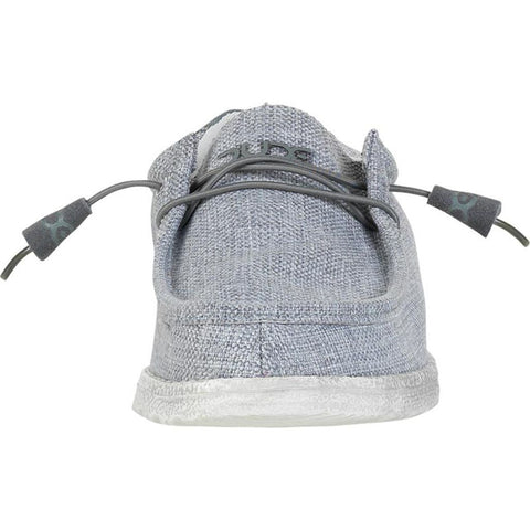 Hey Dude Wally Woven  Shoes | Grey White