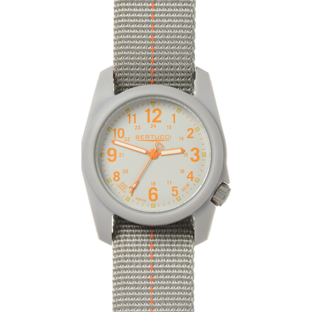 Bertucci DX3 Plus Field Watch | Granite Gray/Orange 11045