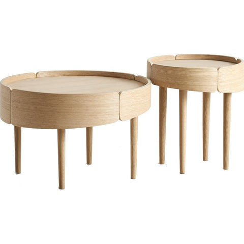 Woud Skirt Coffee Table | Matte White 110510