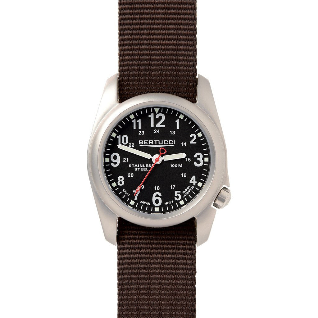 Bertucci A-2S Field Watch | Black/Defender Brown 11055