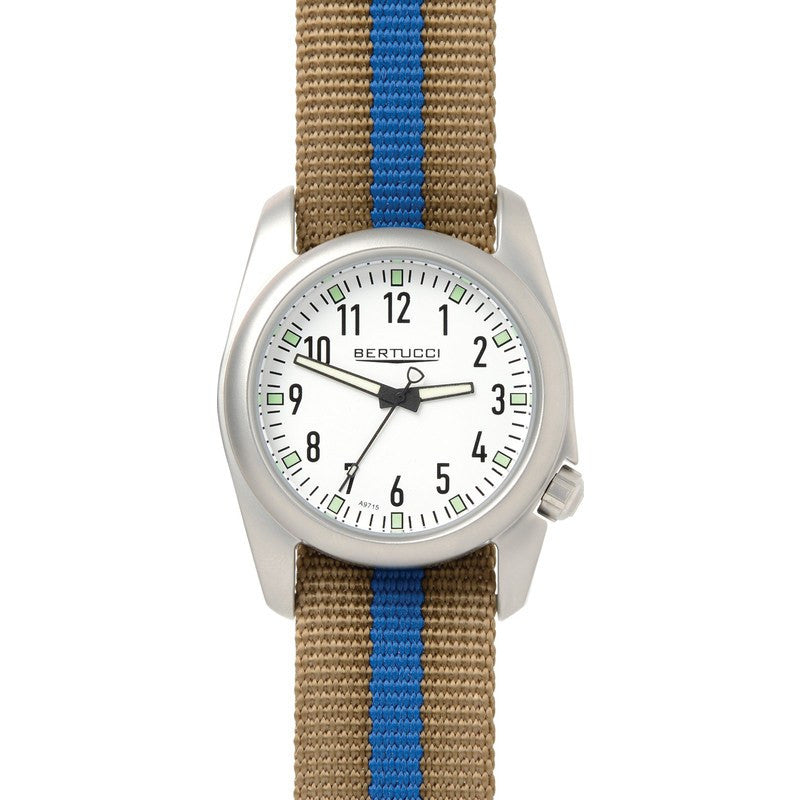 Bertucci Ventara Watch | White/Khaki with Blue 11056
