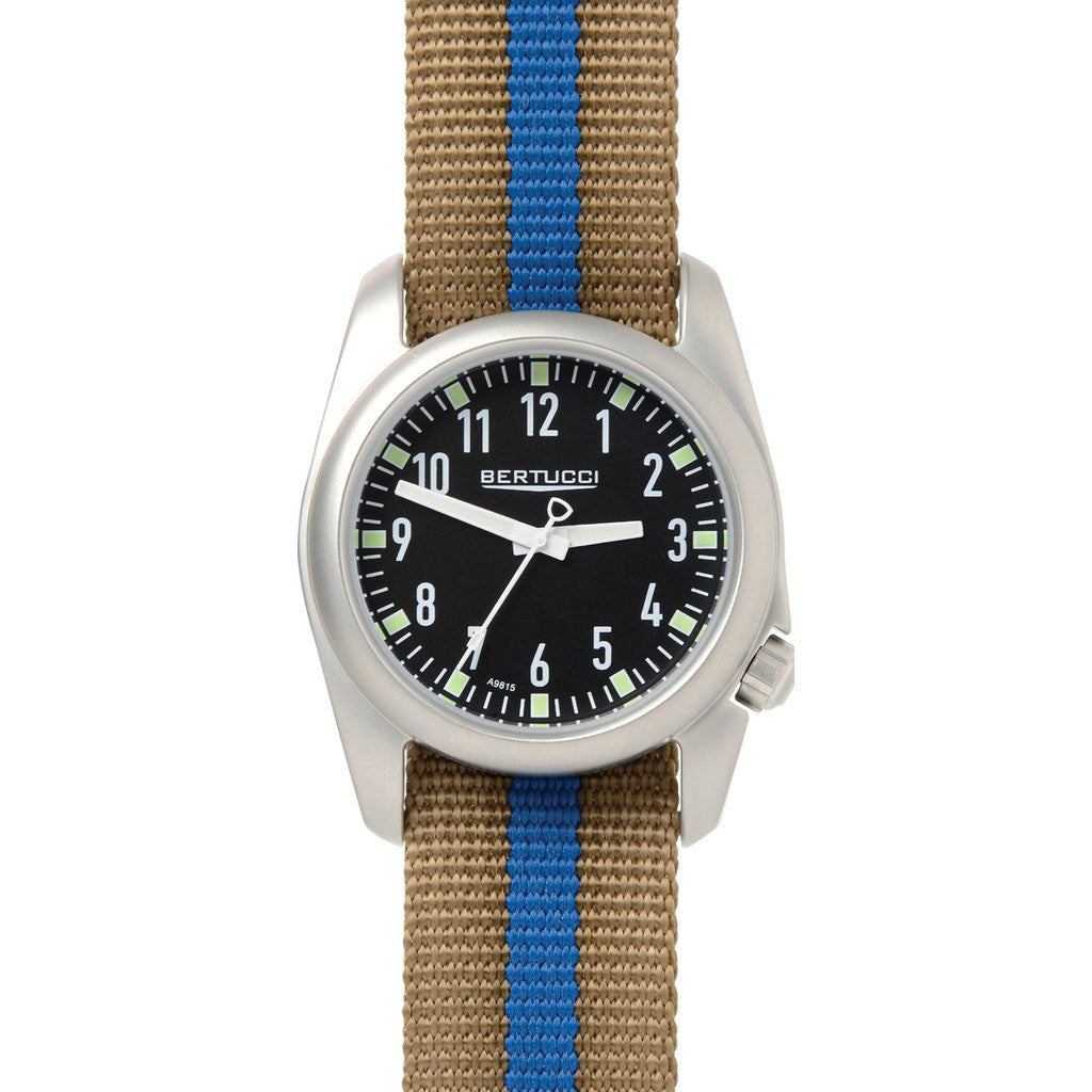 Bertucci Ventara Watch | Black/Khaki/Blue Stripe 11063