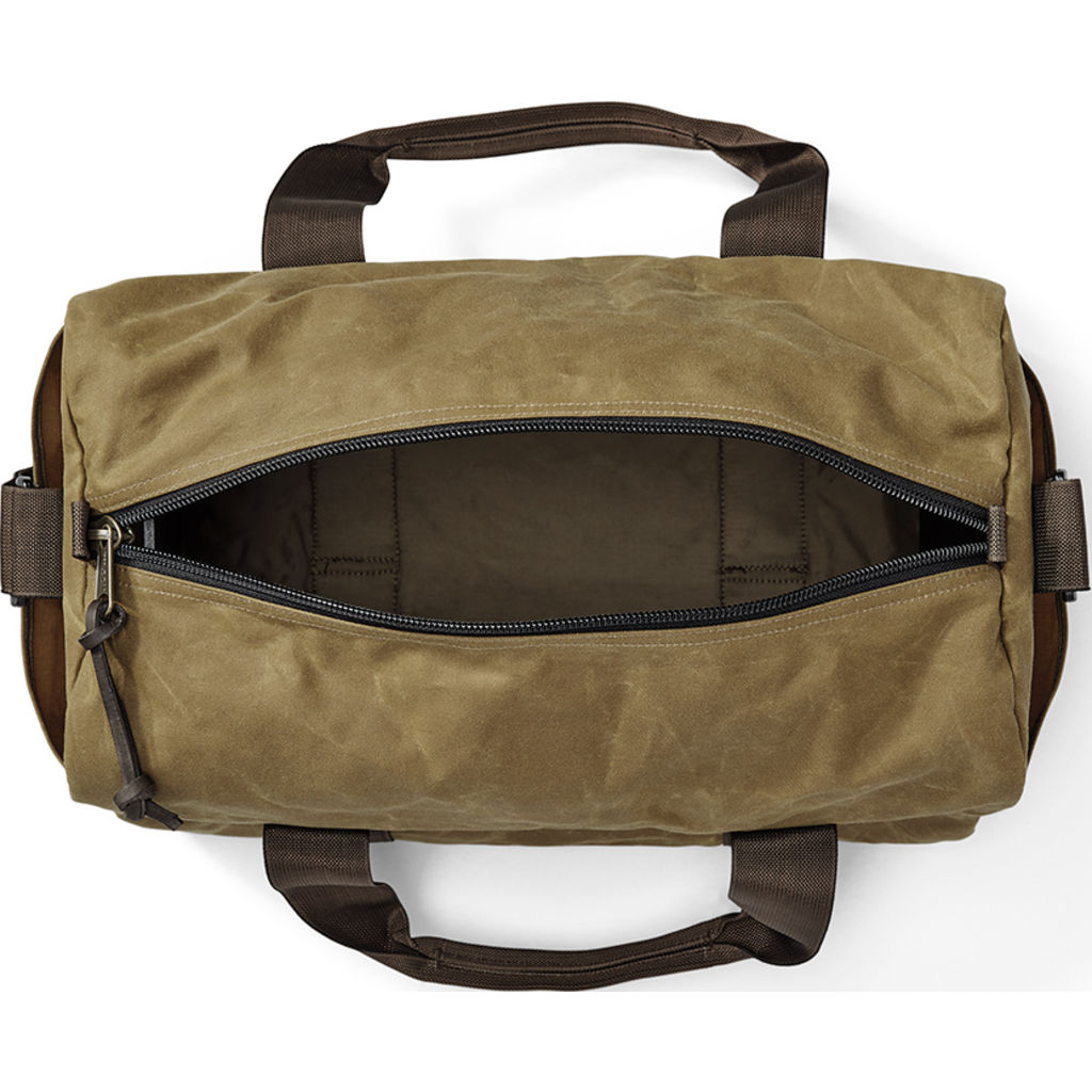 0831906841 Filson Small Field Duffel Bag Dark Tan Brown - Sportique