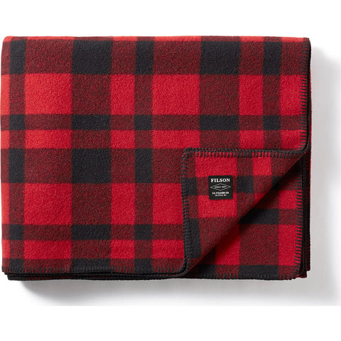 Filson Mackinaw Blanket | Red Black
