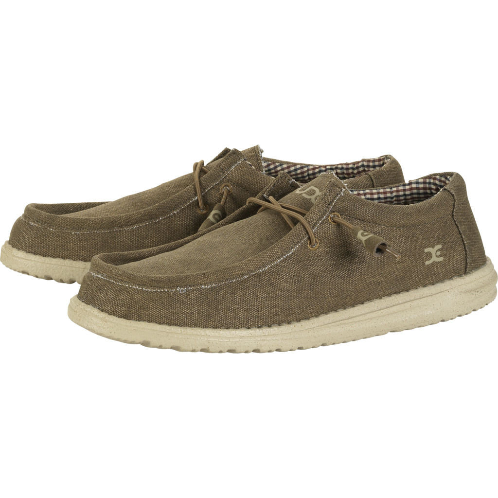 Hey Dude Wally Canvas Shoes | Nut