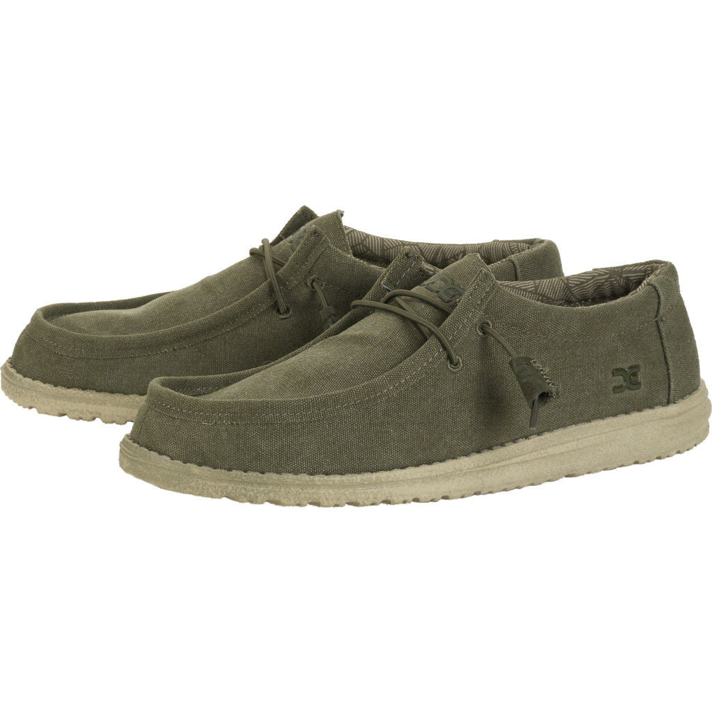 Hey Dude Wally L Canvas Shoes | Army
