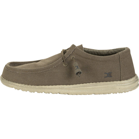 Hey Dude Wally L Canvas Shoes | Olive