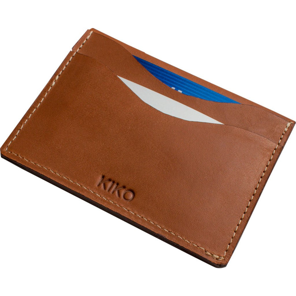 Kiko Leather Slide Card Case | Brown 113brwn