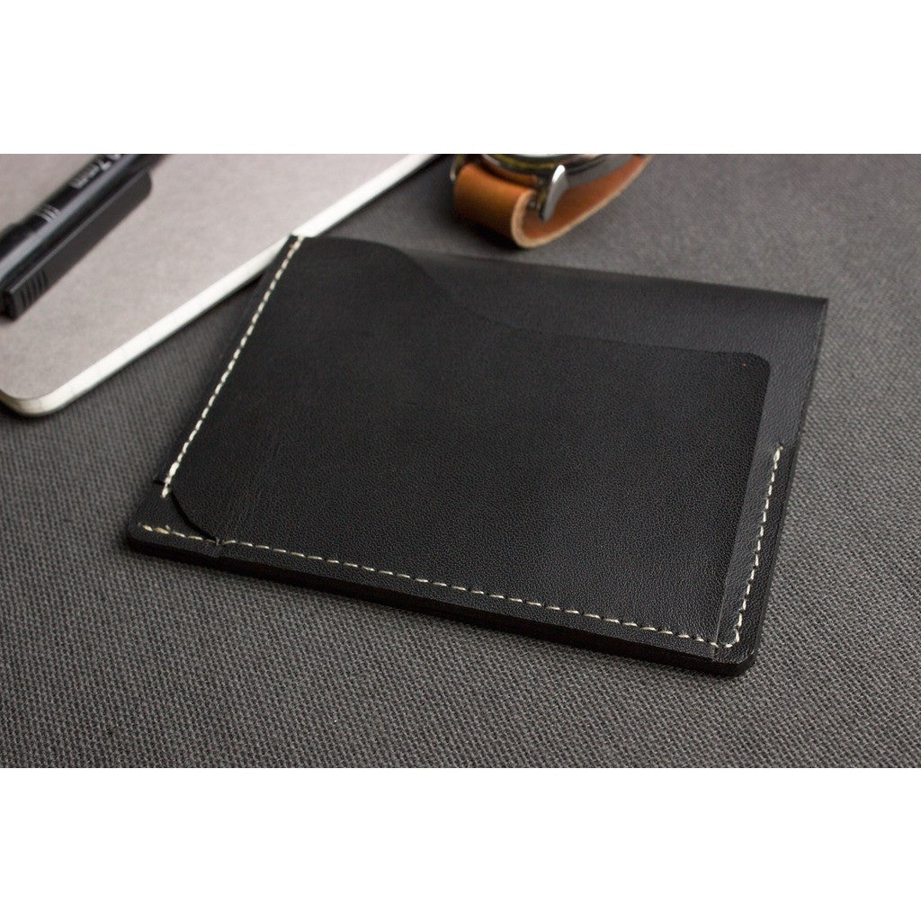 Kiko Leather Slide Card Case | Black 113blk