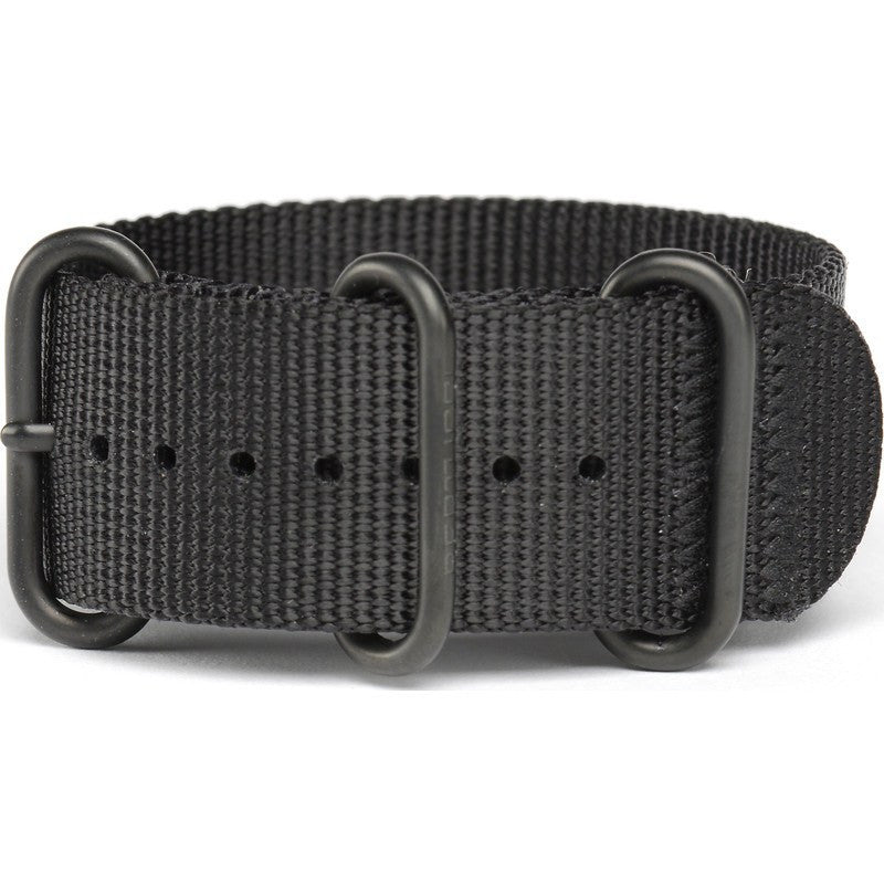 Bertucci DX3 Nylon Watch Band | Black/Black Ion #114B