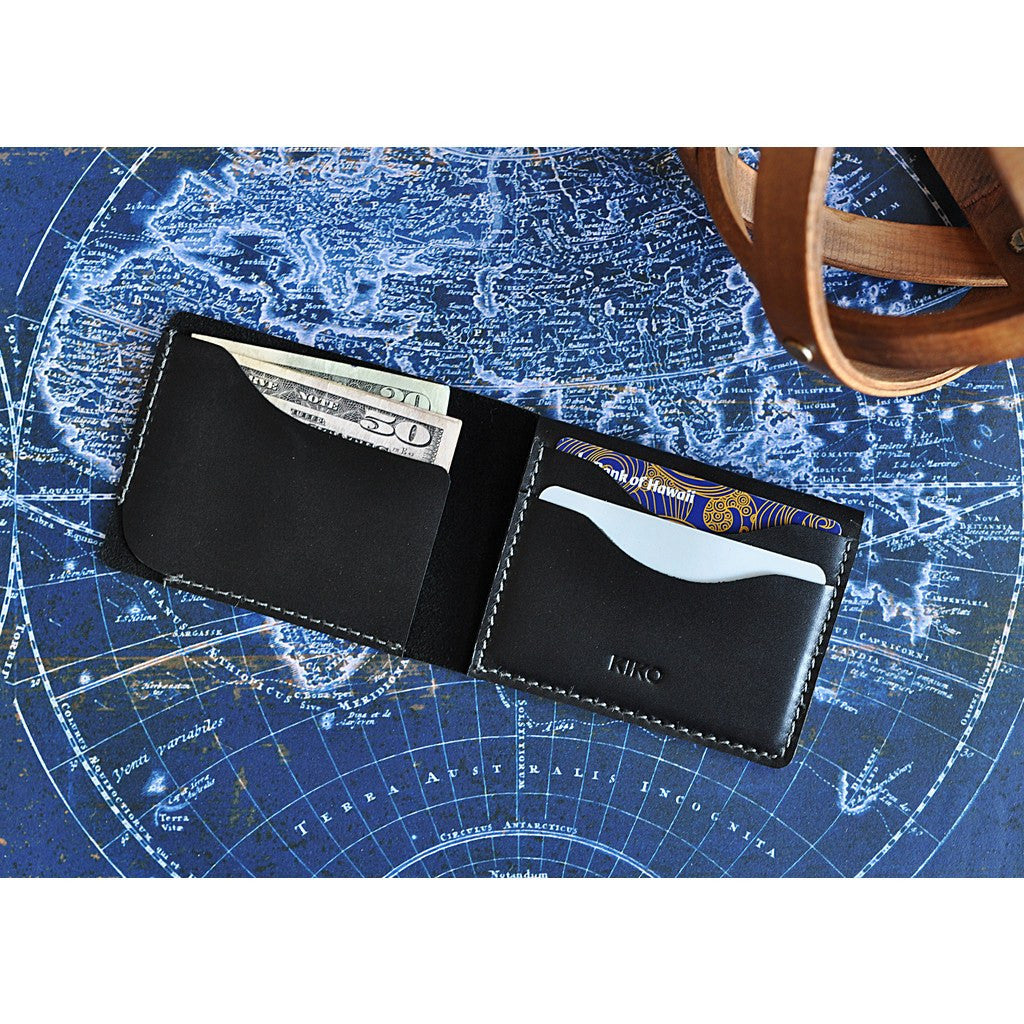 Kiko Leather Simplistic Leather Wallet | Black 114blk