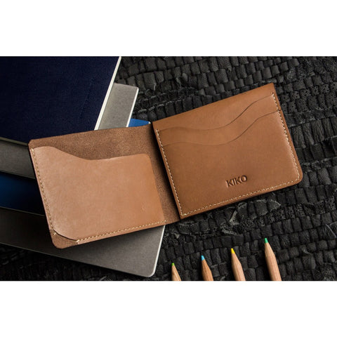 Kiko Leather Simplistic Leather Wallet | Brown 114brwn