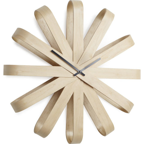 Umbra Ribbonwood Wall Clock | Beechwood 118071-390
