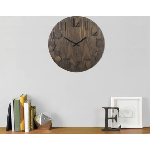 Umbra Shadow Wall Clock | Aged Walnut 118080-746