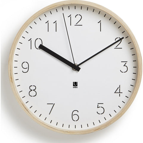 Umbra Rimwood Wall Clock | Natural 118140-668