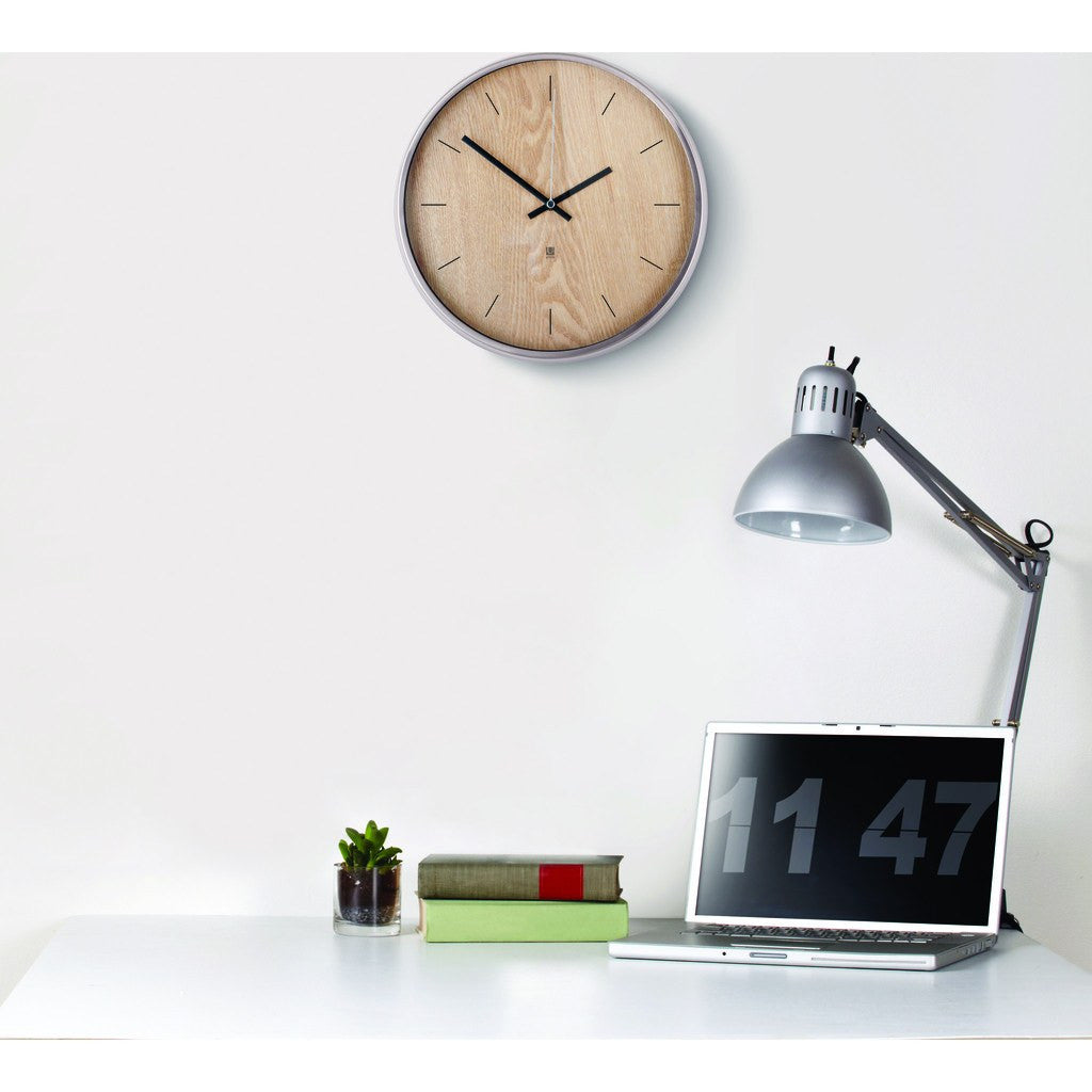 umbra madera wall clock natural