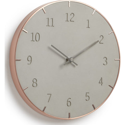 Umbra Piatto Wall Clock | Concrete/Copper 118421-713