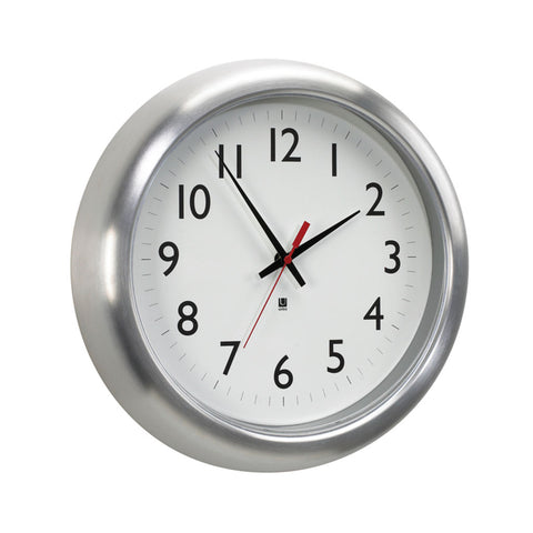 Umbra Station Wall Clock Aluminum 118675-008