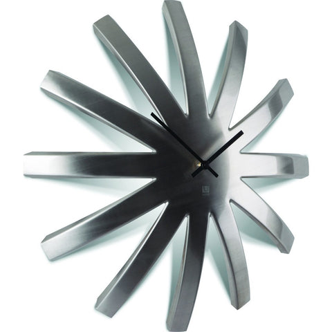Umbra Burst Metal Clock | Stainless Steel 118685-410