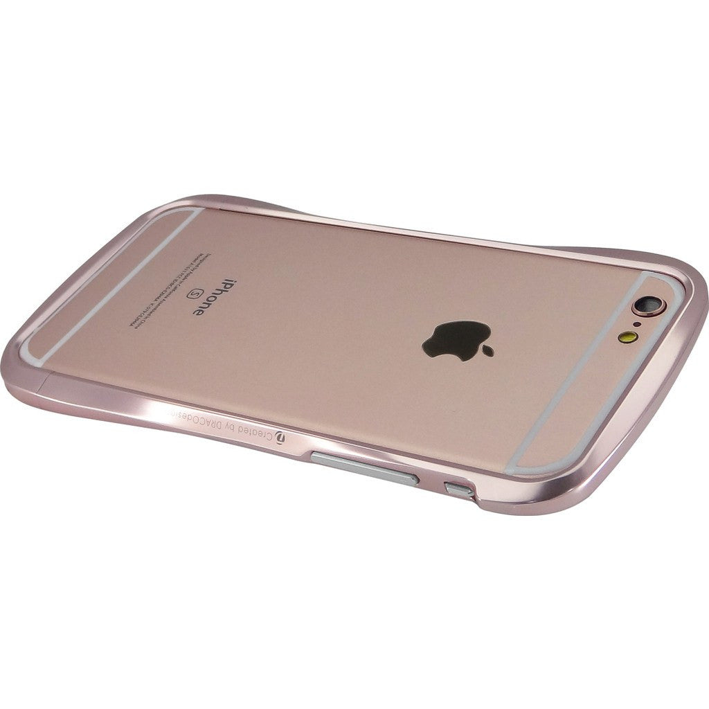 DRACO Design 6SX Polished Chrome Aluminum Bumper iPhone 6/6s Case | Rose Gold DR6S011A2-PRG
