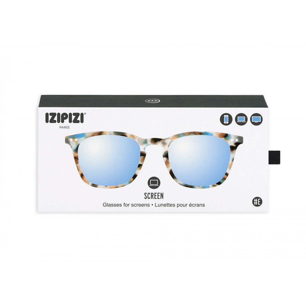 Izipizi Screen Glasses E-Frame | Blue Tortoise Soft