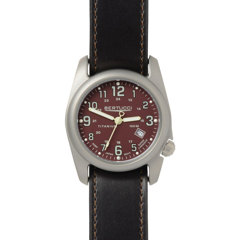 Bertucci A-2T Field Colors Watch | Crimson/Chestnut