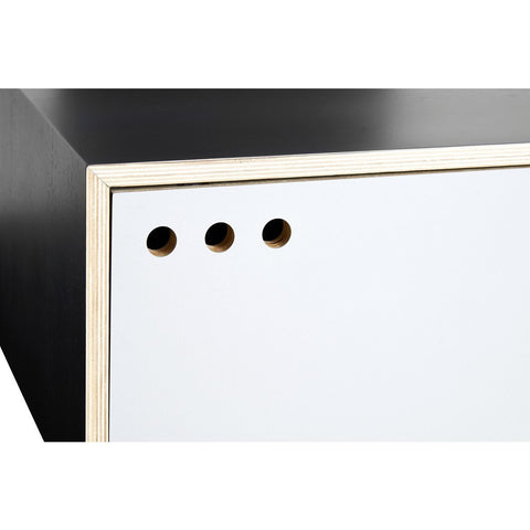 Woud Geyma High Sideboard | Black/Gray 120300
