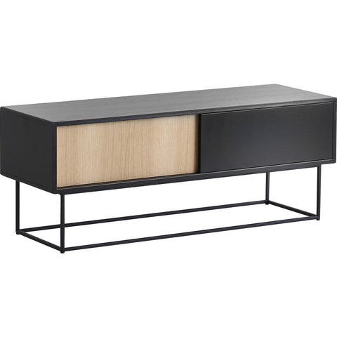 Woud Virka Low Sideboard | Black/Soap Treated Oak 120410