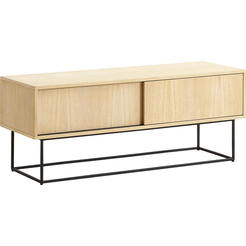 Woud Virka Low Sideboard | Soap Treated Oak 120411