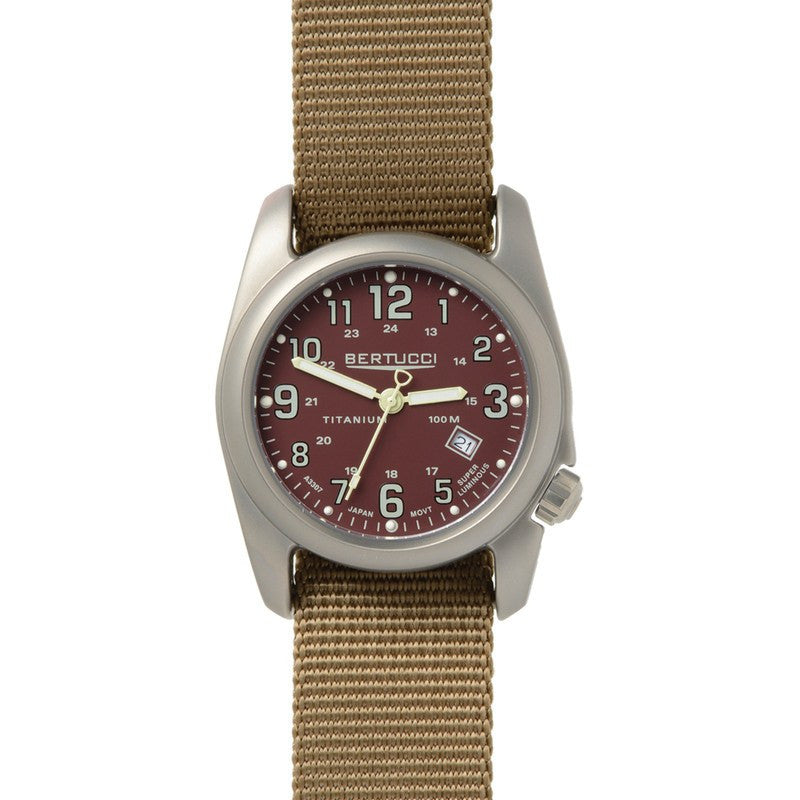Bertucci A-2T Field Colors Watch | Crimson/Coyote