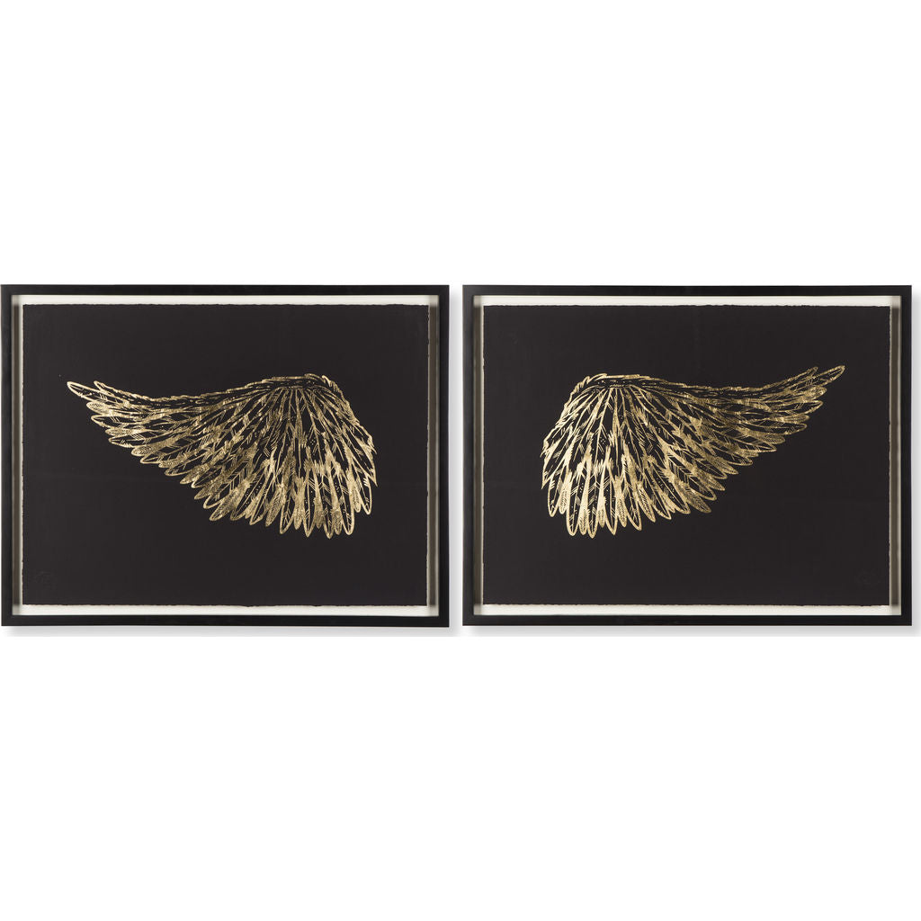 Resource Decor Wings Print | Gold & Black
