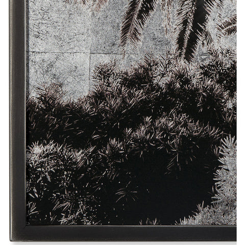 Resource Decor Venice  Palm Trees  Siver Leaf Print | Solid Wood