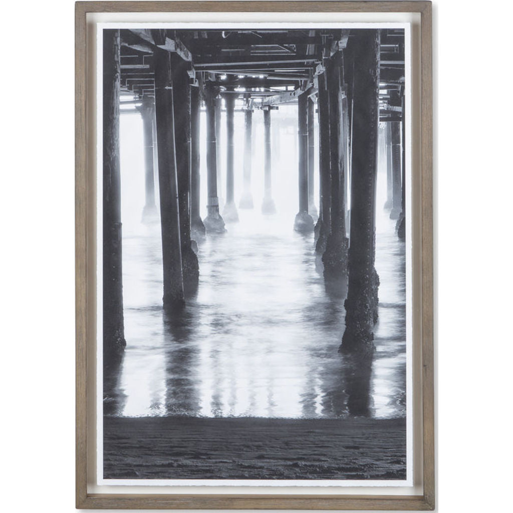 Resource Decor Santa Monica Pier Framed Print | Distressed Wood ...