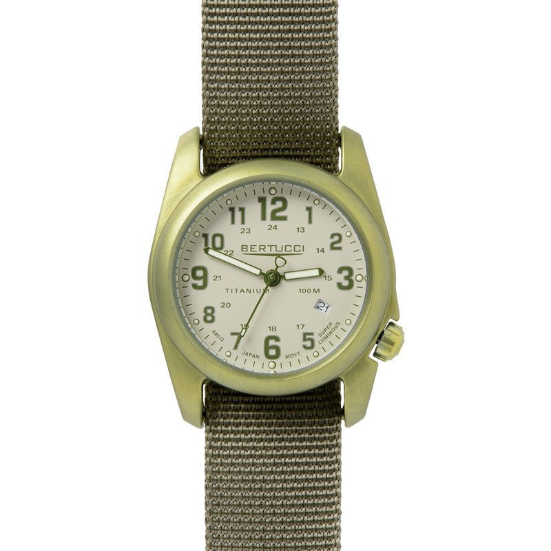 Bertucci A-2T Field Colors Watch | Stone with Forest/Drab