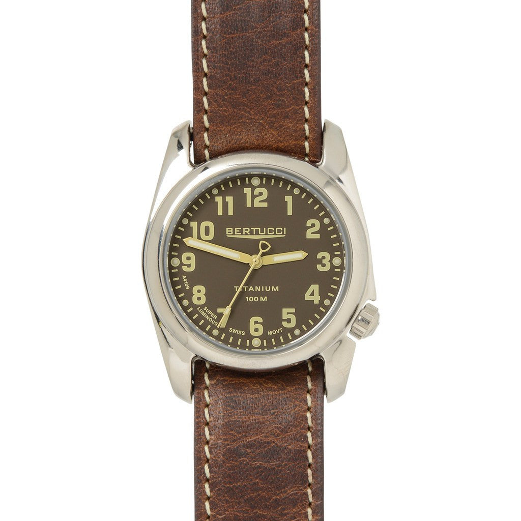 Bertucci A-2T Highpolish Field Watch | Burlap/Nut Brown 12073