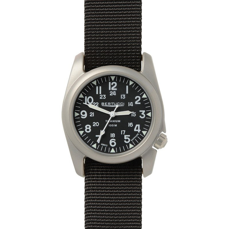 Bertucci A-2T Vintage Watch | Black/Black 12074