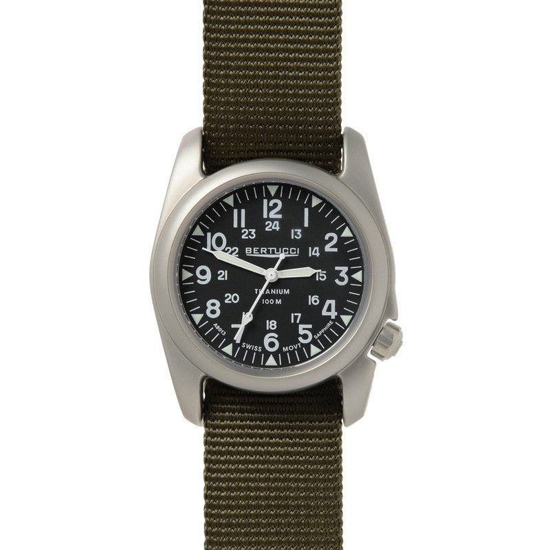 Bertucci A-2T Vintage Watch | Black/Defender Olive