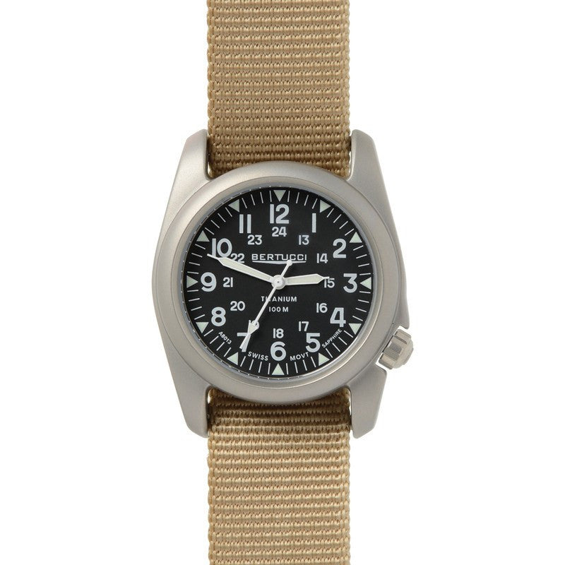 Bertucci A-2T Vintage Watch | Black/Defender Khaki