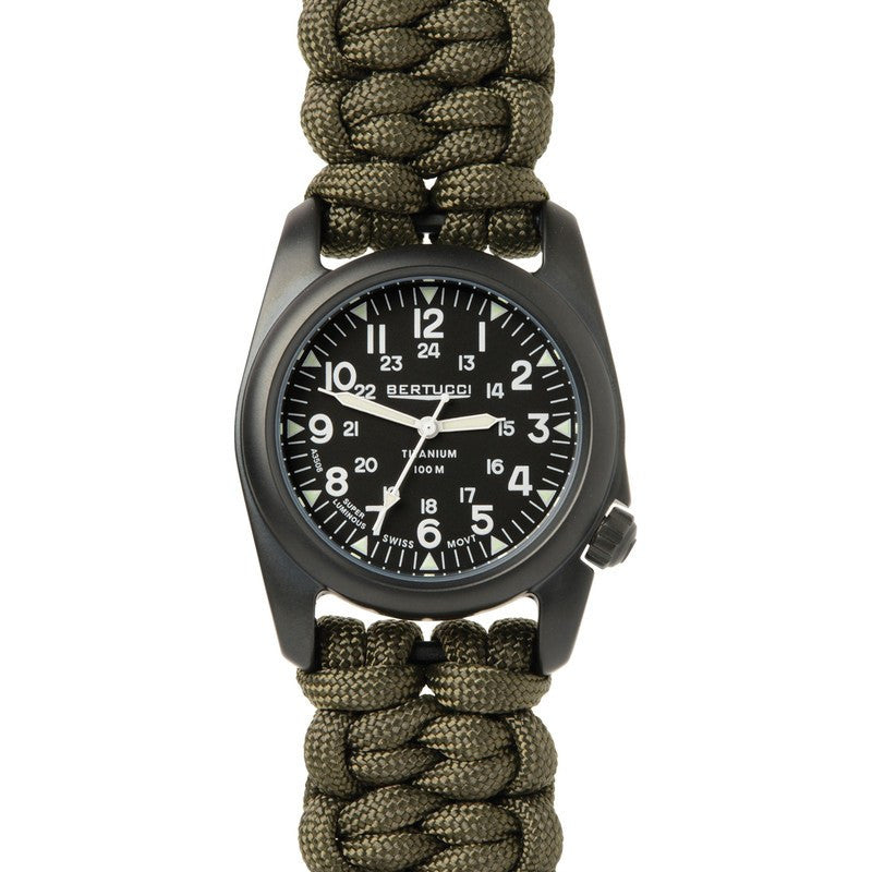 Bertucci A-2T Vintage Paracord Watch | Black/Olive Drab