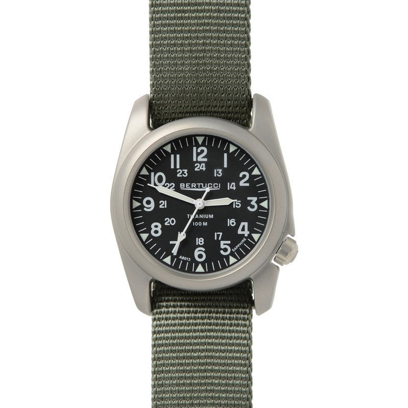 Bertucci A-2T Vintage Watch | Black/Defender Drab 12083