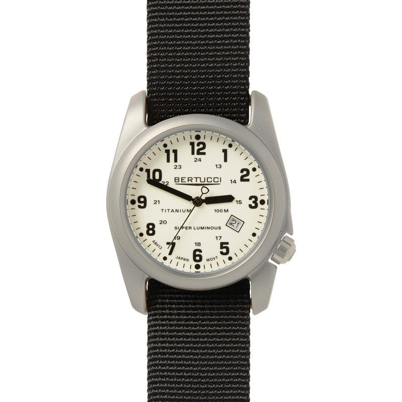 Bertucci A-2T Original Classics Illuminated Watch | White/Black 12086